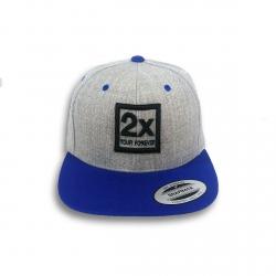 Baseball sapka - 2X szürke-kék 5a227fa5cf