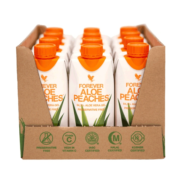 Forever Aloe Peaches 12 x 330ml